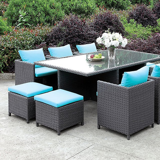 Furniture of America  Contemporary Brown 11-piece Patio Dining Set