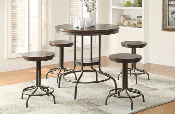 Burney 5Pc Pack Counter Height Dining Set