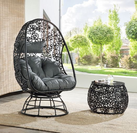 Patio Lounge Chair & Side Table