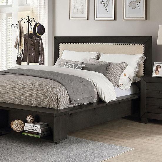 Furniture of America Silgo QueenTransitional Grey Solid Wood Platform Bed