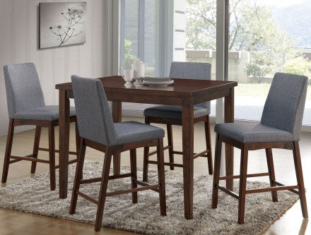 Furniture of America Marten Counter Ht. Table Dining Set