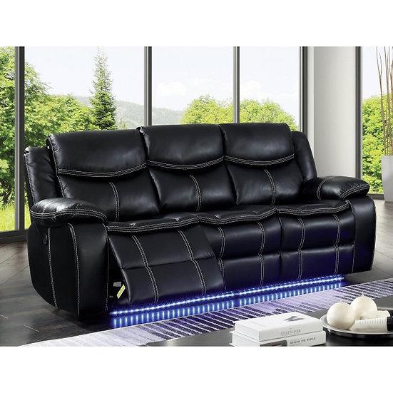 Furniture of America Sirius LED Power Recliner Sofa