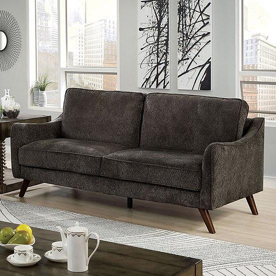 Maxime Mid-Century Modern Chenille Sofa