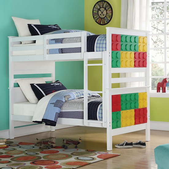 Playground Twin Over Twin Bunk Bed - Multi-Color