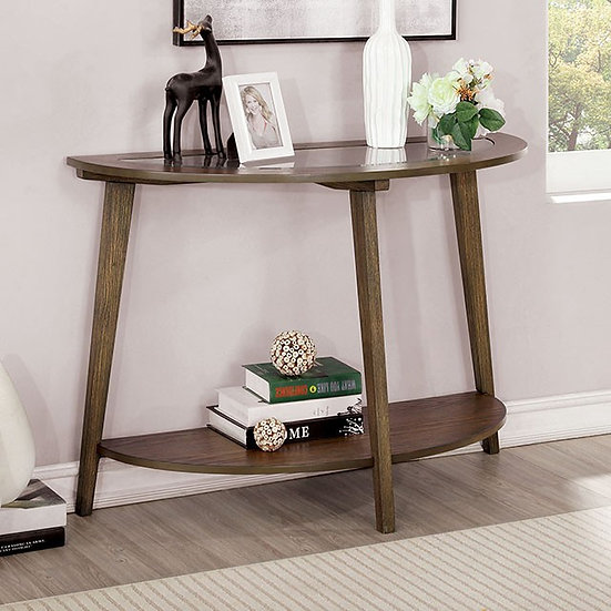 Furniture of America Mid-century Oak Solid Wood Sofa Table