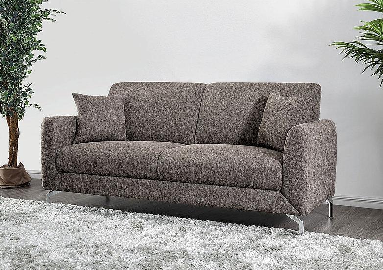 Furniture of America Lauritz Contemporary Brown Linen Sofa