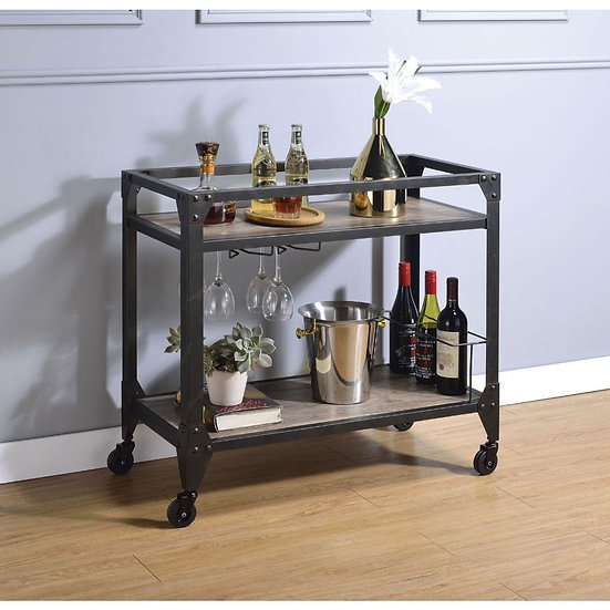 Rustic Serving Cart