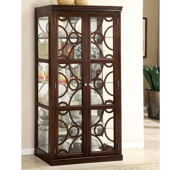 Furniture of America  Contemporary Walnut 6-shelf Curio Cabinet