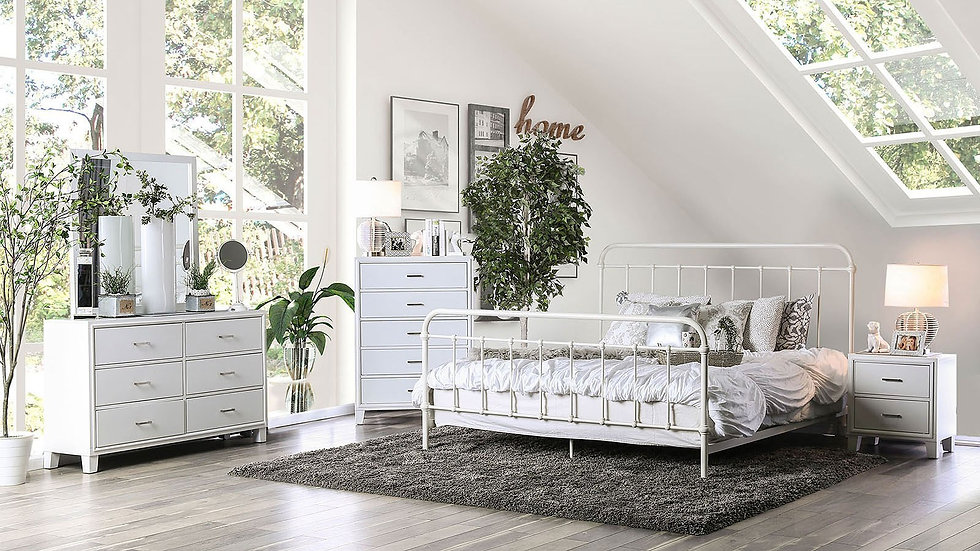 Furniture of America Iria Vintage Queen Bed