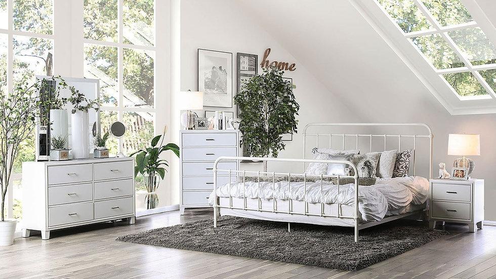 Furniture of America Iria Vintage White Full Bed