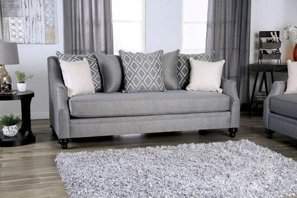 Furniture of America Nefyn Sloped Arm Sofa