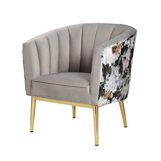 Contemporary - Velvet accent chair