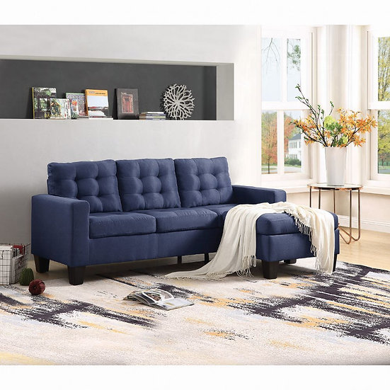 ACME Earsom Sectional Sofa (Rev. Chaise)