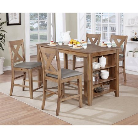 Furniture of America Lana Counter Ht. Table Dining Set