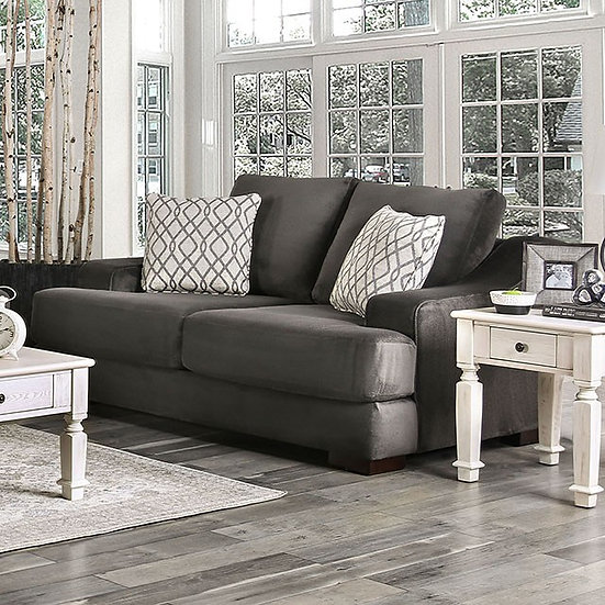 Furniture of America Contemporary Charcoal Loveseat