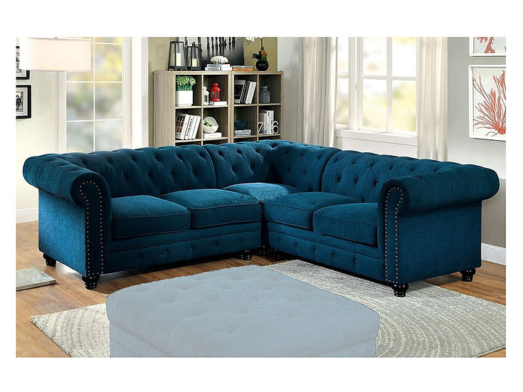 Furniture of America Whitney Upholstered Sectional Sofa