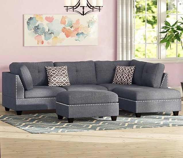 Grey reversible sectional