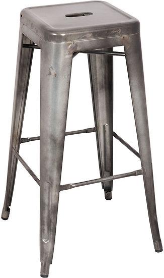 Kiara Antique Silver Bar Stool Set of 2