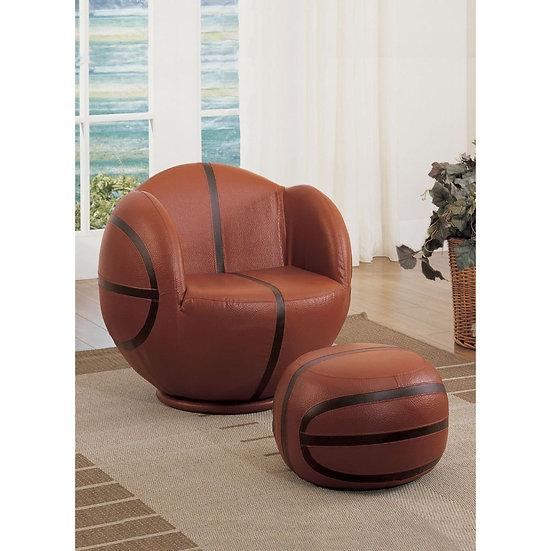 Basketball All Star 2Pc Pack Chair & Ottoman