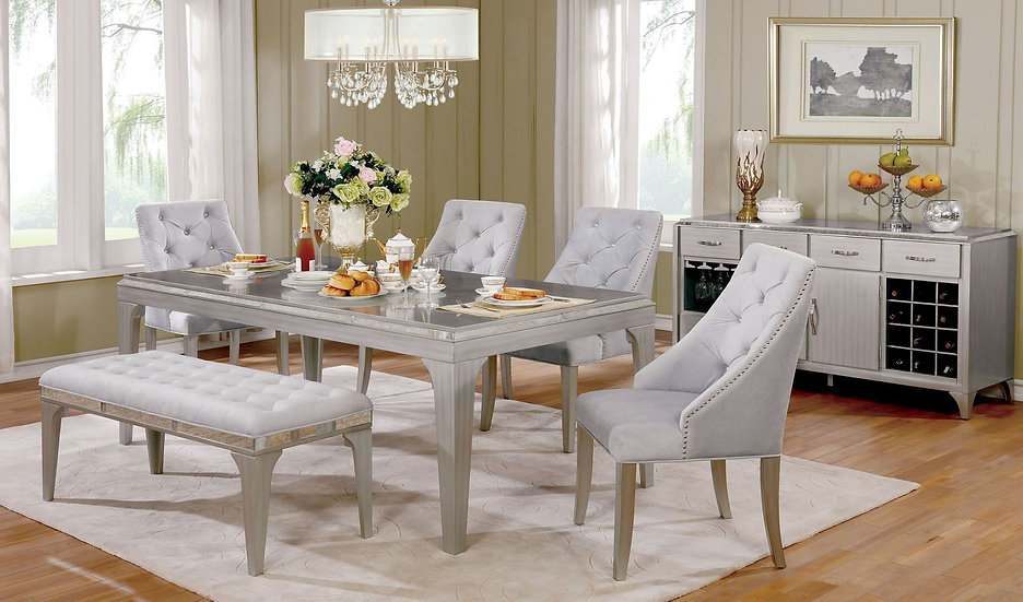 Acme Furniture Diocles Dining Room Set w/Bench