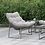 Thumbnail: Furniture of America Contemporary Grey Metal Patio Chair