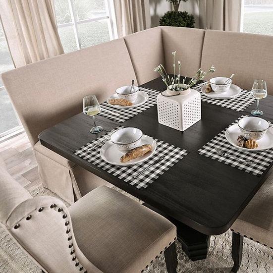 Nerissa Dining table set w/ bench