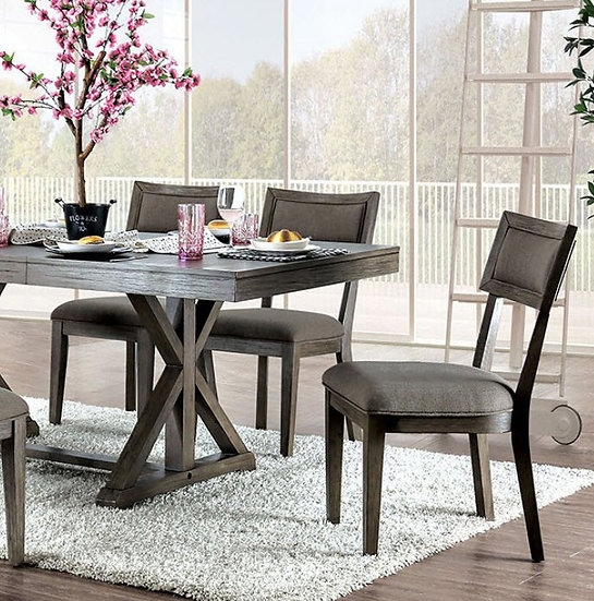 Furniture of America Leeds Dining Table Set
