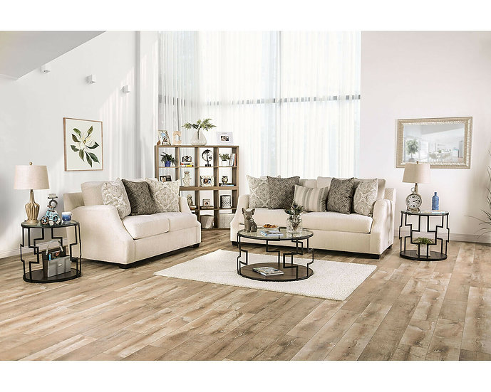 Furniture of America Laila Love Seat & Sofa