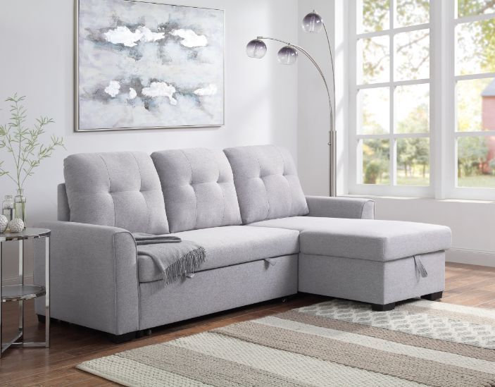 Reversible Storage Sleeper Sectional Sofa