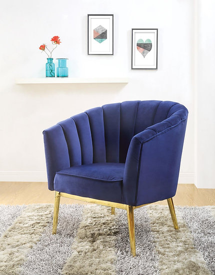 Colla Contemporary Velvet Accent Chair