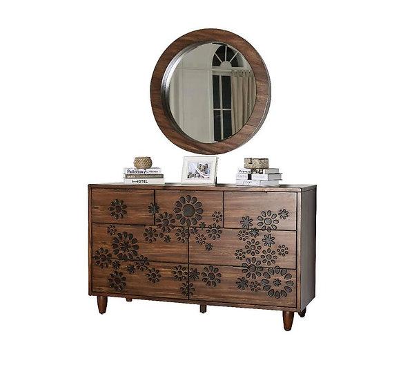 Amarantha Dresser w/ round mirror