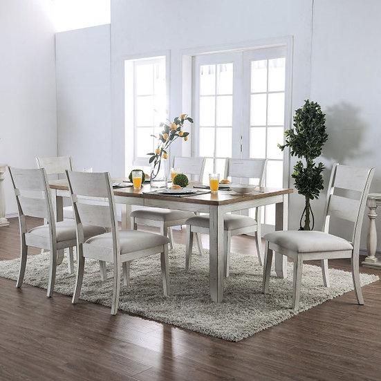 Furniture of America Bridgid 7 Piece Dining Table Set