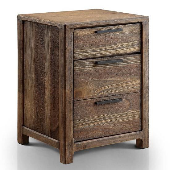 Furniture of America Hankinson Rustic Drawer Nightstand