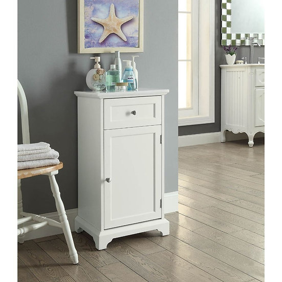 Marble & White Cabinet