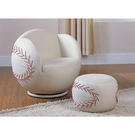 Baseball Star 2Pc Pack Chair & Ottoman