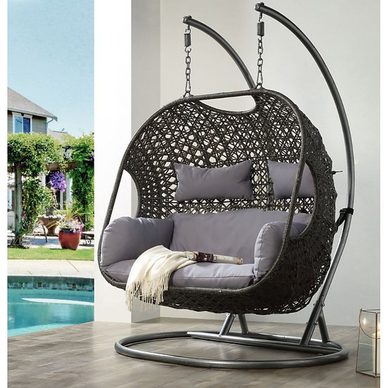 ACME Vasta Patio Swing Chair with Stand
