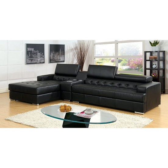 The Furniture of America  Floria 2 Piece Sectional Sofa with Console