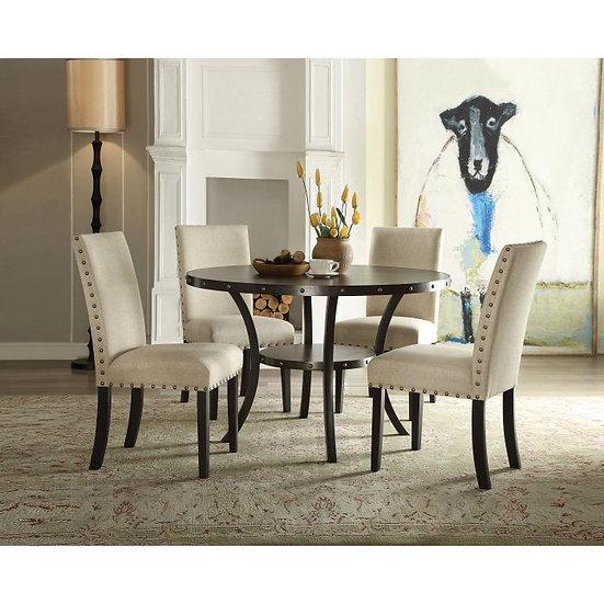 Acme Furniture Hadas 5 Piece Round Dining Table Set