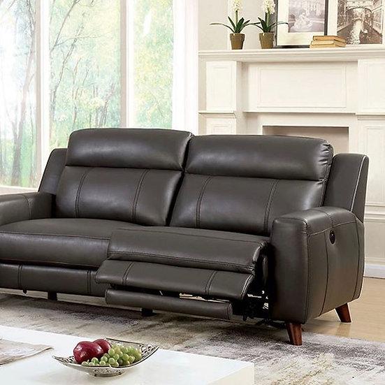 Reclining sofa with mid-century design