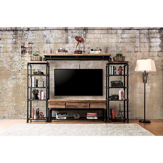 "60"" TV STAND W/PIER CABINET & BRIDGE"