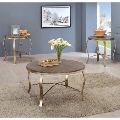 Wicklow 3 Pc. Table Set, Champagne