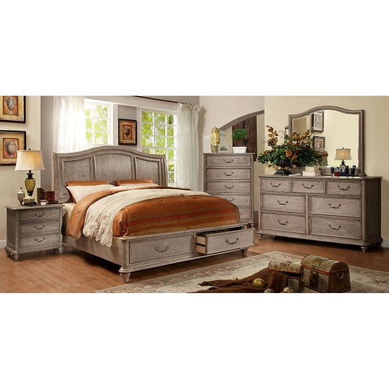 Furniture of America Belgrade I Queen Storage Sleigh Bed Set