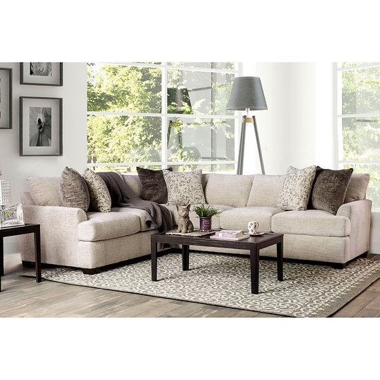Furniture of America Alisa Contemporary Chenille Sectional Sofa