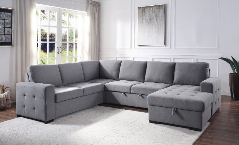 Storage Sleeper Sectional Sofa