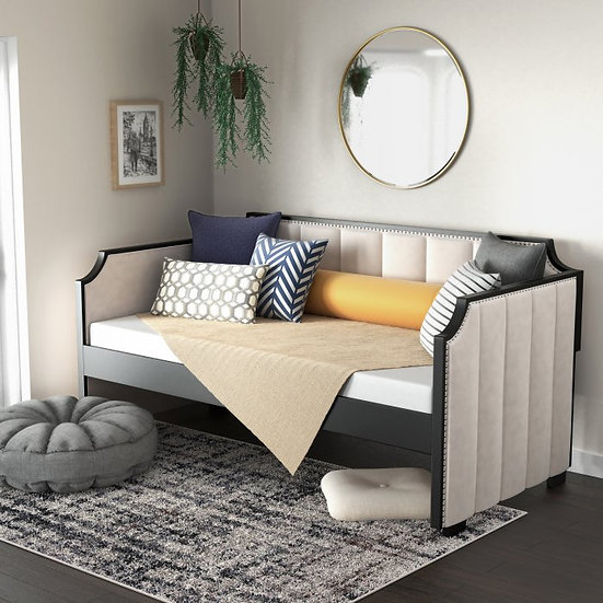 Furniture of America Costanza Upholstered Daybed W/Trundle