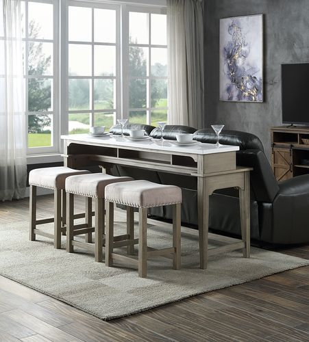 Transitional Counter Height 4-piece Dining Set