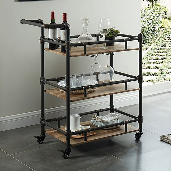 Furniture of America Aylmer Serving Cart