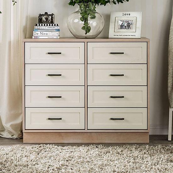 Furniture of America Roseburg Mid-Century Modern Cream 8-drawer Chest