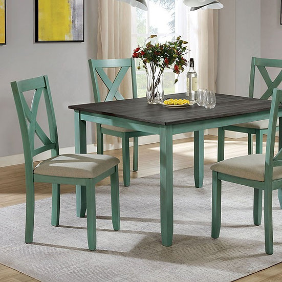 Furniture of Anya Cleyton Rustic Solid Wood 5-piece Dining Set