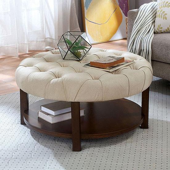 Furniture of America Round Ottoman